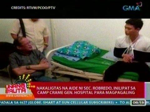 UB: Nakaligtas na aide-de-camp ni Robredo, inilipat sa Camp Crame Gen. Hospital para magpagaling
