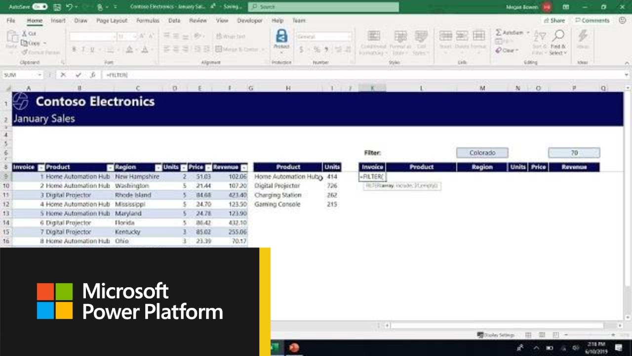 Microsoft Excel: Getting Started with Dynamic Arrays in Excel - THR2010