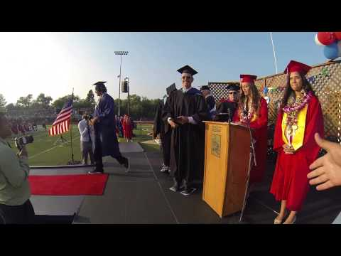 Steven De Souza Receiving his Diploma, 5-30-2014