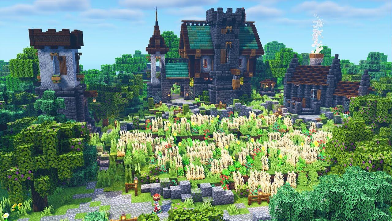 Minecraft Medieval Base Timelapse [Minecraft 1.17 Base]