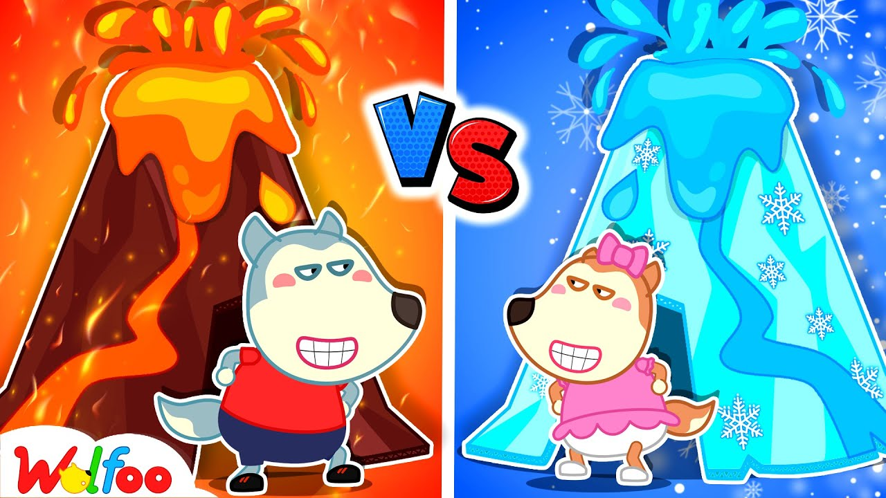 Download Hot vs Cold Challenge with Wolfoo - Wolfoo Makes DIY Volcano Eruptions   Wolfoo Family Kids Cartoon