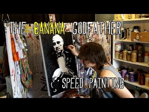 BANANA GODFATHER - Speed Painting - Pop Art By Stephen Quick 'The Godfather'