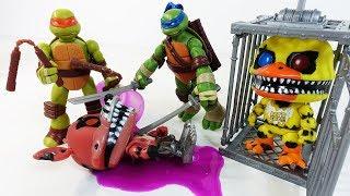 ЧЕРЕПАШКИ НИНДЗЯ игрушки ФНАФ Пять ночей с Фредди Мультики с Игрушками FNAF - TMNT Ninja Turtles