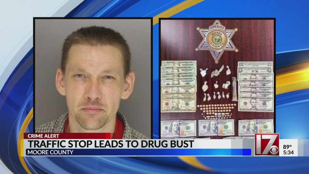 Moore Co  traffic stop yields drugs
