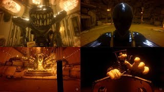 ALL BOSSES   CHAPTER 4 And 5  Bendy And The  Nk Machine ALL F GHTS