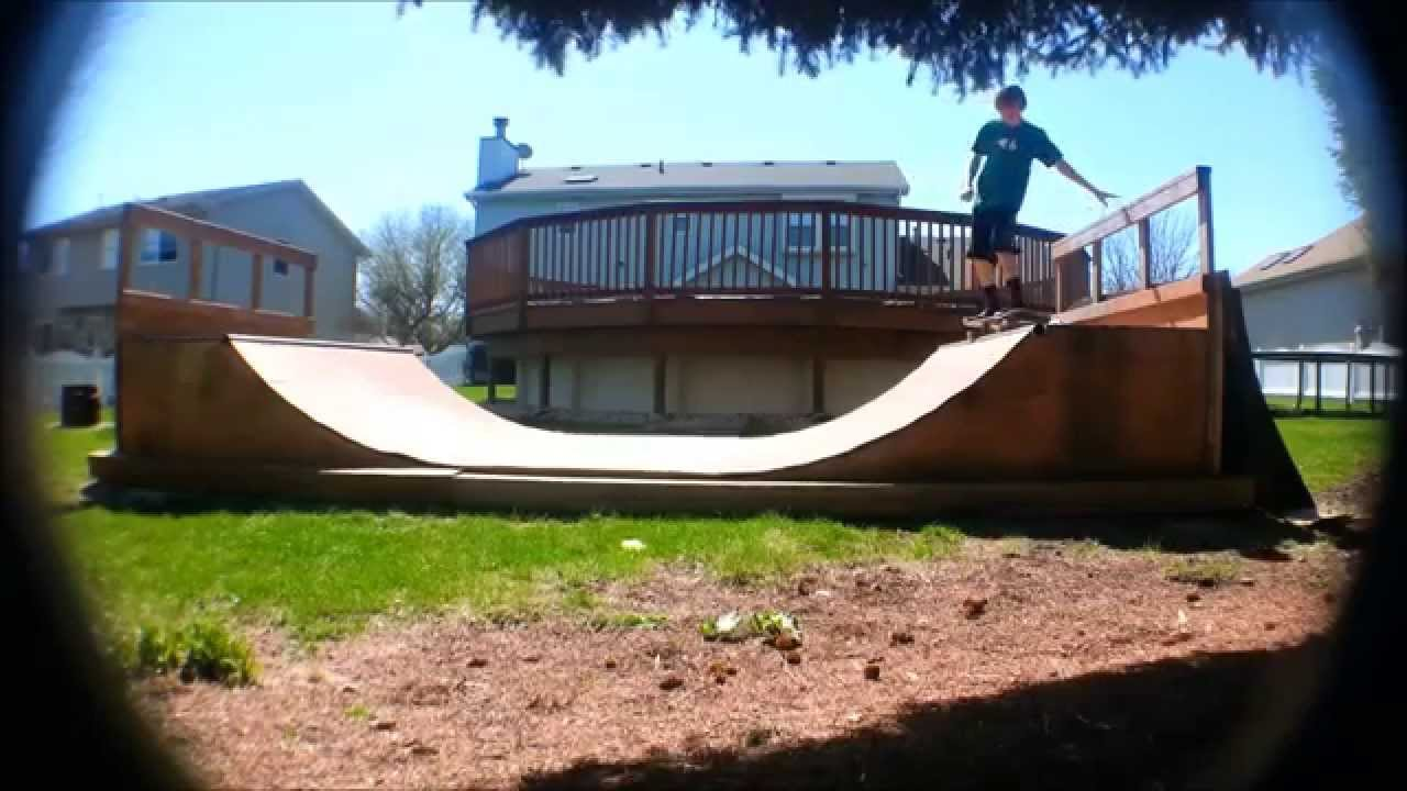 backyard mini ramp youtube