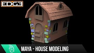 #1 Maya For Beginners - Modeling a Cartoon House Tutorial 1080p HD