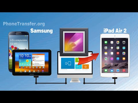 How to Transfer Photos from Samsung Tablet to iPad Air 2, Galaxy Phone to iPad Air 2