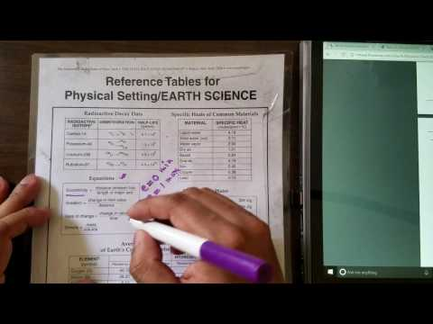 Earth Science Reference Table (ESRT) review for the Regents Exam #03 (Eccentricity)