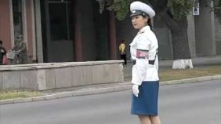 Pyongyang Traffic Officers