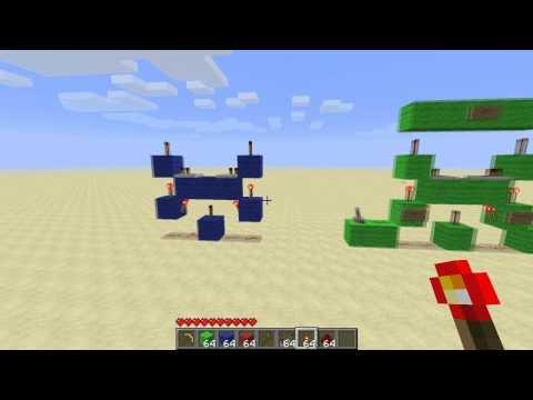 Minecraft - Smaller Vertical XOR Gate