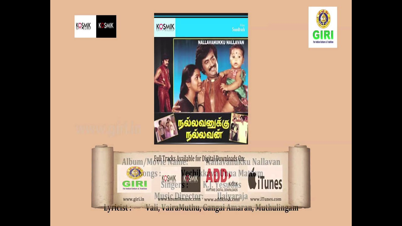 Unnai thaney thanjam (from nallavanukku nallavan) mp3 song.