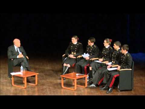 Valéry Giscard d'Estaing rencontre les élèves de Polytechnique
