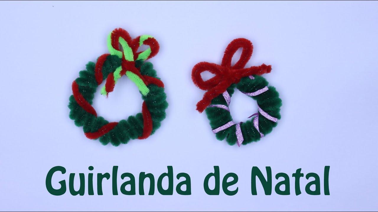 Guirlanda de Natal Artesanato com haste de chenile ou limpador de cachimbo