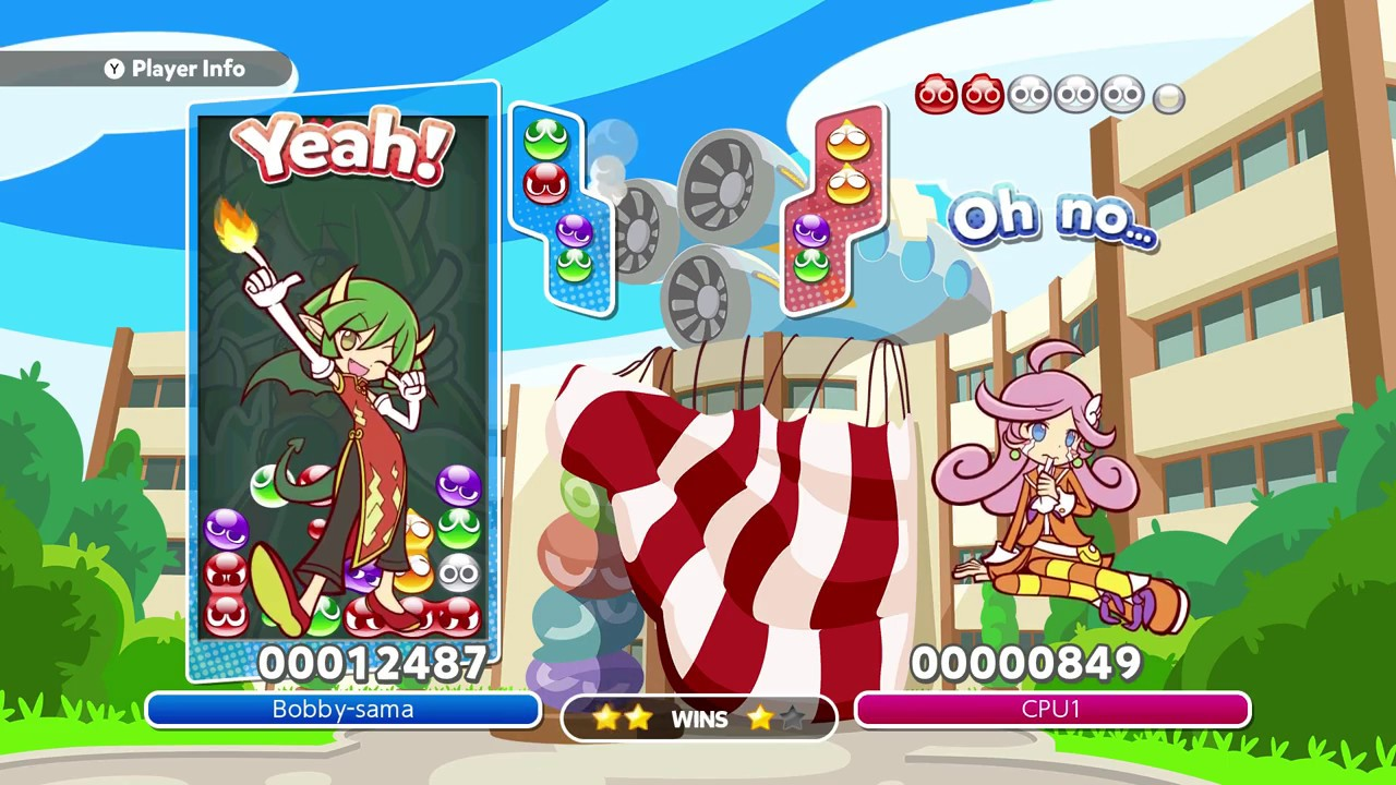 Image result for puyo puyo tetris arcade solo