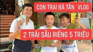 Con trai Bà Tân Vlog lấy tiền của mẹ mua 2 trái sầu riêng 5 triệu của Khương Dừa