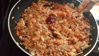 김치볶음밥 만든법..корейское блюдо-кимчи пукынпаб