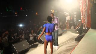 Bajan Girls Acts Wild On Stage to Bruck It Down