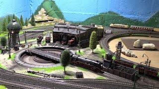 Modellbahn Etappe 2 Betriebswerk mit Drehscheibe und Lokschuppen HD