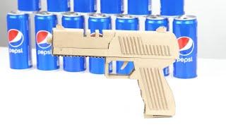 Как сделать пистолет своими руками! Пистолет из картона!