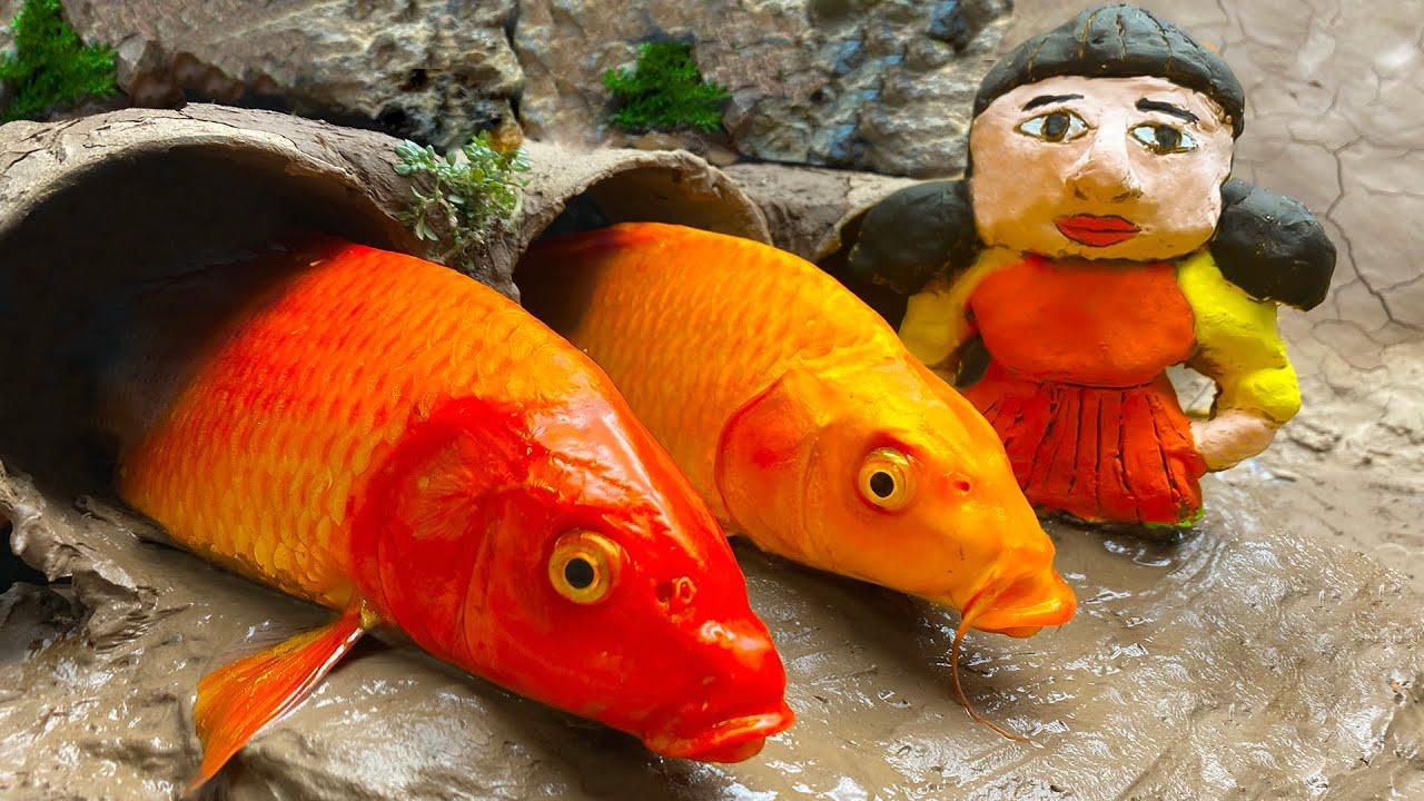 STOP MOTION KOCHEN - Was Passiert, Wenn Die Koi Fische SQUID GAMES Spielen? | Mukbang ASMR Videos