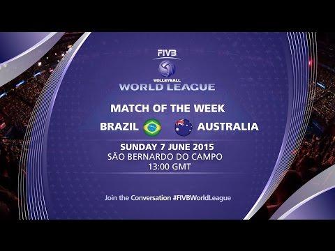 Live Stream - Brazil Vs Australia - FIVB Volleyball World League 2015