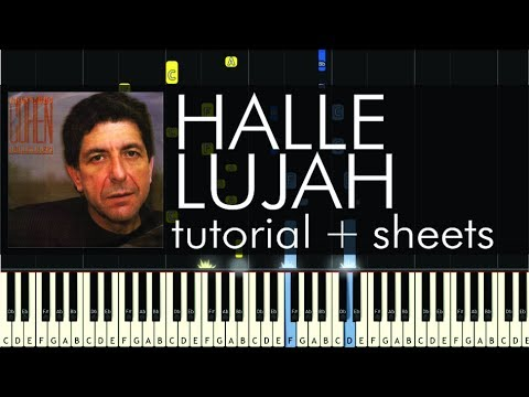 Leonard Cohen - Hallelujah - Piano Tutorial - How to Play - Sheets