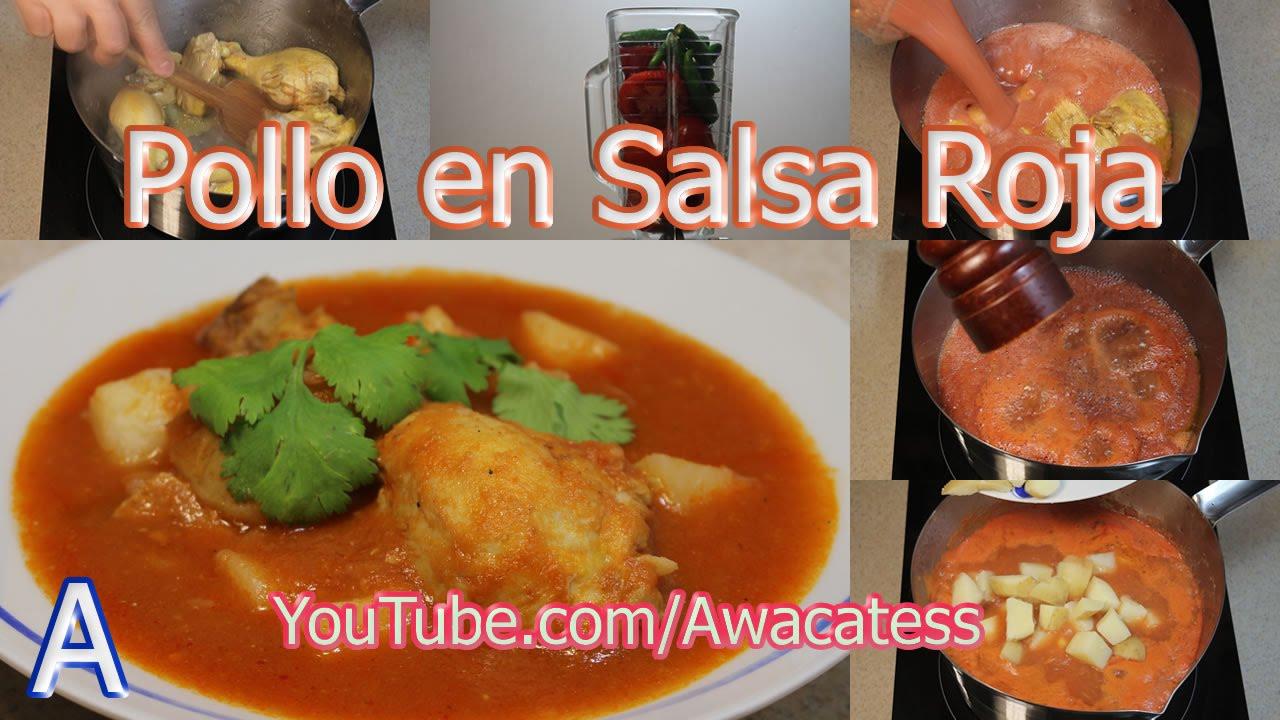 Pollo en salsa roja con papas como cocinar recetas de for Comidas rapidas de preparar