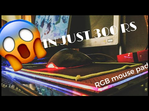 How to make RGB gaming mouse pad at home in just 300 RS