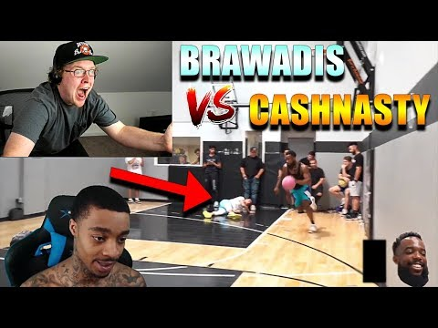 Reacting To FlightReacts Cash vs Brawadis 1v1 Rivalry Basketball Game!