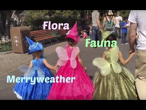 Three Fairies @ Disneyland - Flora, Fauna, & Merryweather