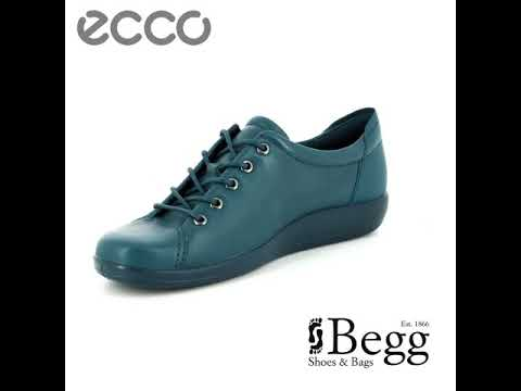 2bcedc73 ECCO Soft 2.0 206503-01315 Petrol blue lacing shoes