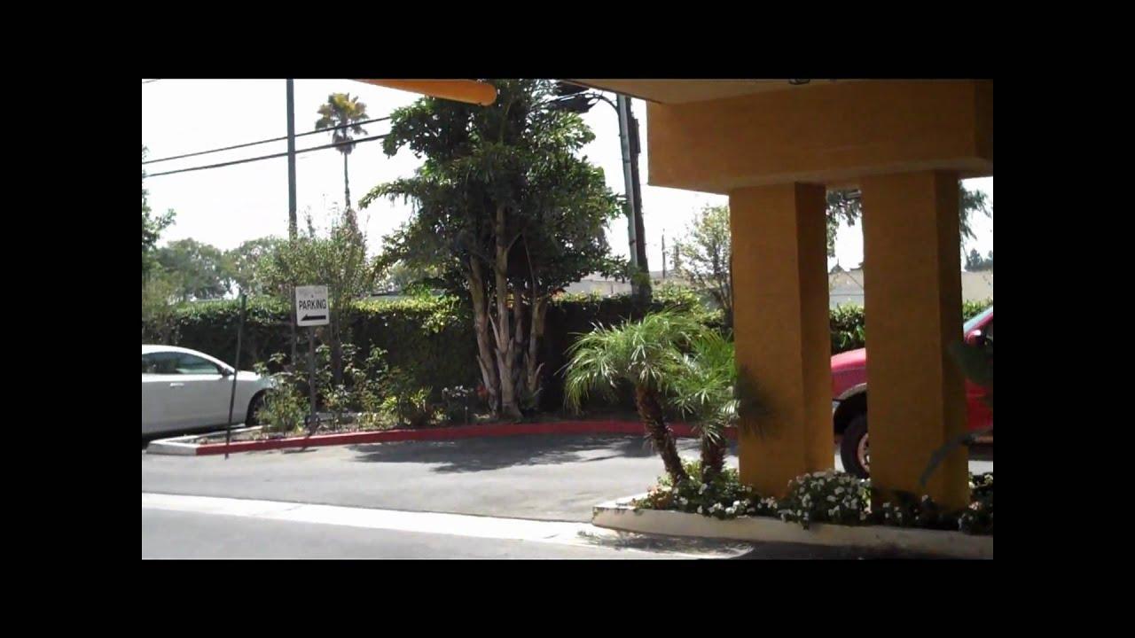 Outside Ramada Hotel In Garden Grove California