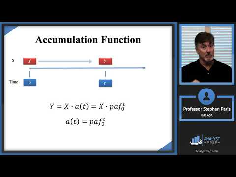 The Accumulation Function (Actuarial Exam FM – Financial Mathematics – Module 1, Section 2)