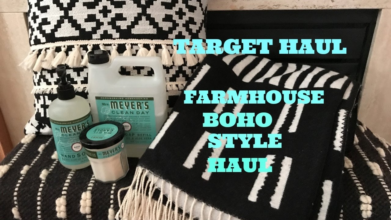 TARGET FARMHOUSE BOHO HOME DECOR HAUL GIVEAWAY YouTube