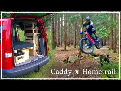 First little Trip with my Caddy Camper | Quick Hometrail MTB Ride