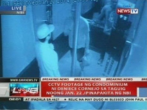 NTVL: CCTV footage ng condominium ni Deniece Cornejo sa Taguig noong Jan. 22, ipinakita ng NBI