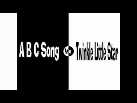 ABC Song VS Twinkle Twinkle Little Star - Split Screen