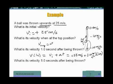 Physics - motion - Free fall worked examples - YouTube