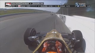 IndyCar Series 2017. Pocono Raceway. James Hinchcliffe Amazing Save