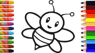 How to draw a bee | learn to draw a bee | drawing for kids