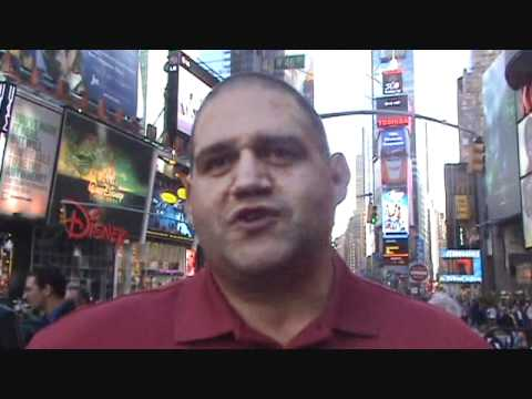 Rulon Gardner at USA v Russia dual in Times Square