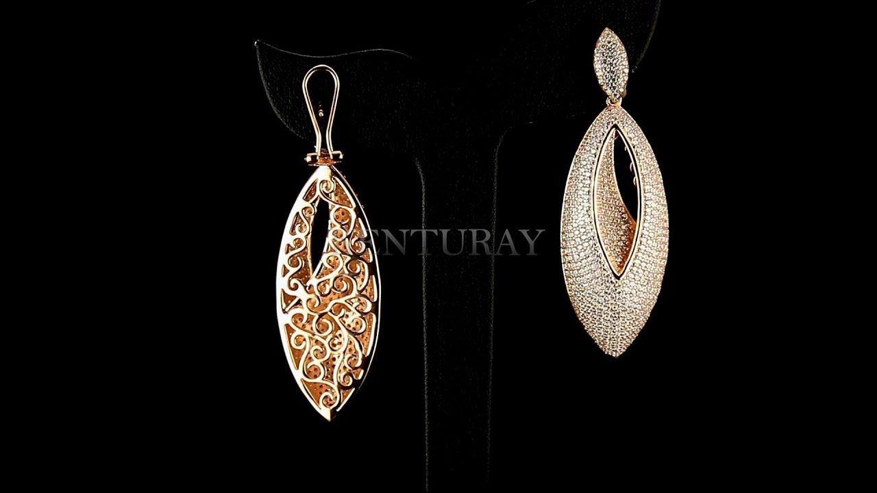 18k Gold Plated 925 Sterling Silver Luxury Earrings Kenturay Jewelry