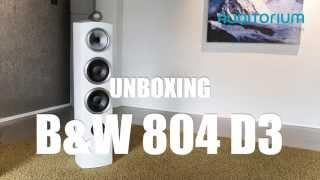 unboxing bowers wilkins 804 d3