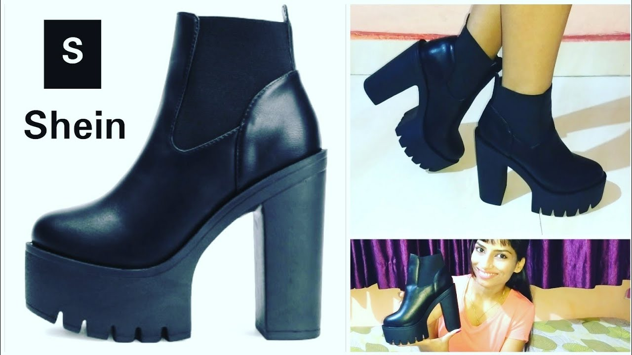 de4ed27ba2 Shein Unboxing Manchester Ankle Boots for Women | High Platform Ankle Boots  | @stayprettysangita