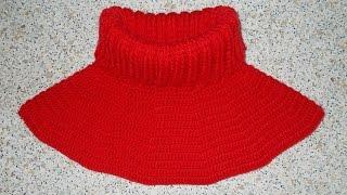 Манишка круглая крючком - 1 часть - Crochet dickey (shirtfront)
