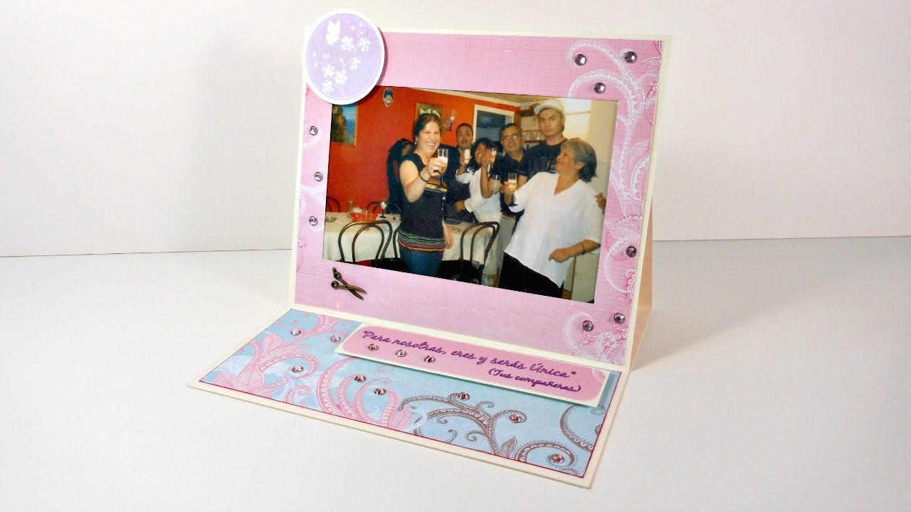 Tarjeta con marco para fotografias | Cardmaking | Mundo@Party - YouTube