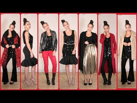 30 Holiday Outfits with 1 Dress ! 30 Holiday Outfit Ideas & Winter Outfits
