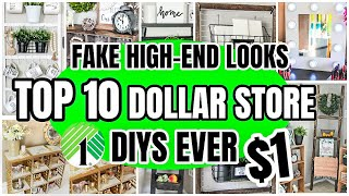 10 CLEVER DOLLAR STORE DIYS│ FAKE HIGHEND LOOKS WITH DOLLAR TREE PRODUCTS