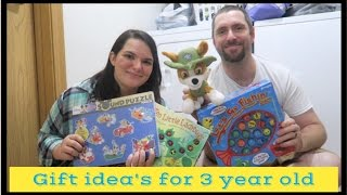 Gift Idea's For A 3 Year Old